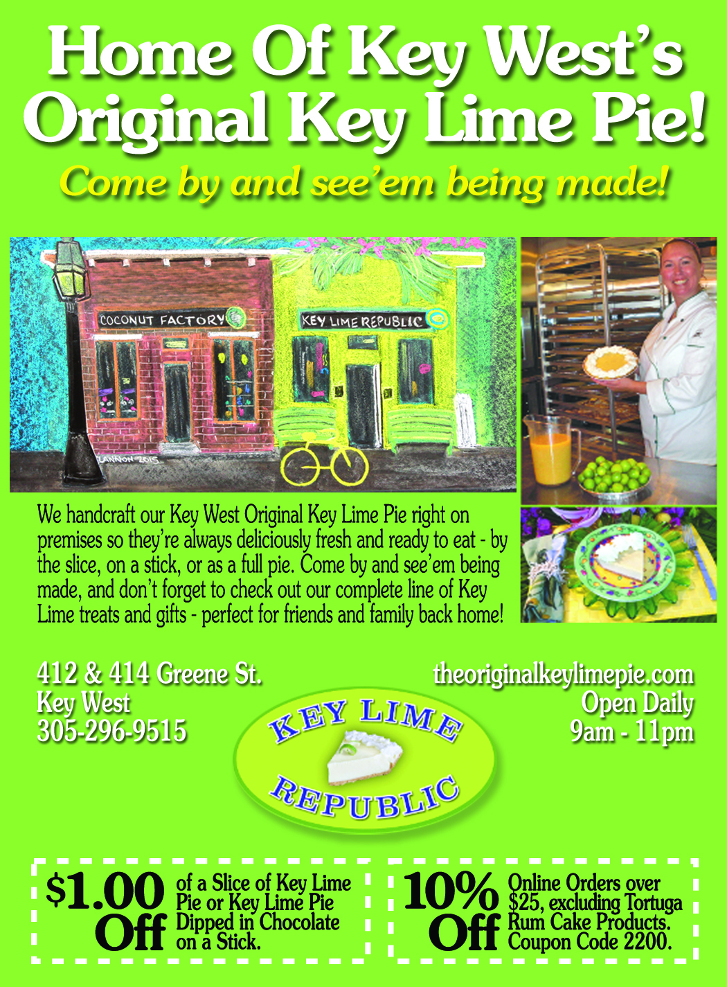 Key Lime Republic and Coconut Factory