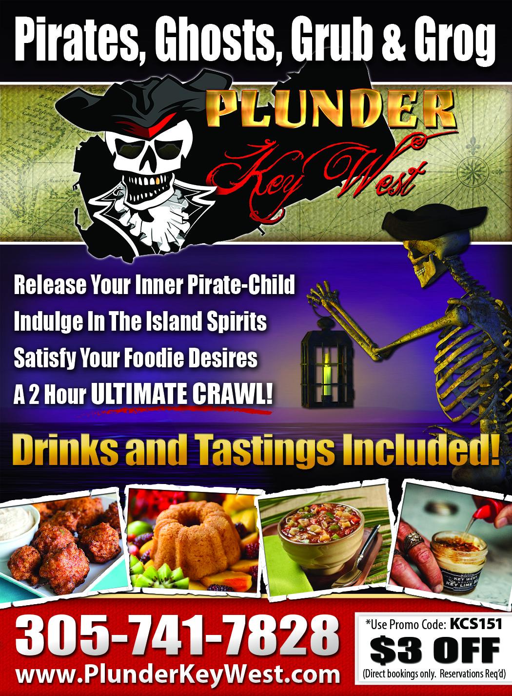 Plunder Key West, Pirates, Ghosts, Grub & Grog