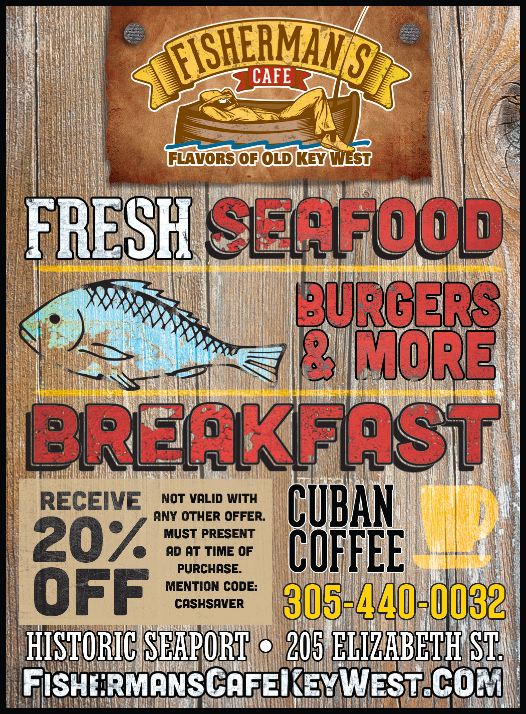 Florida Keys Seafood Restaurant Money Saving Discount Coupon