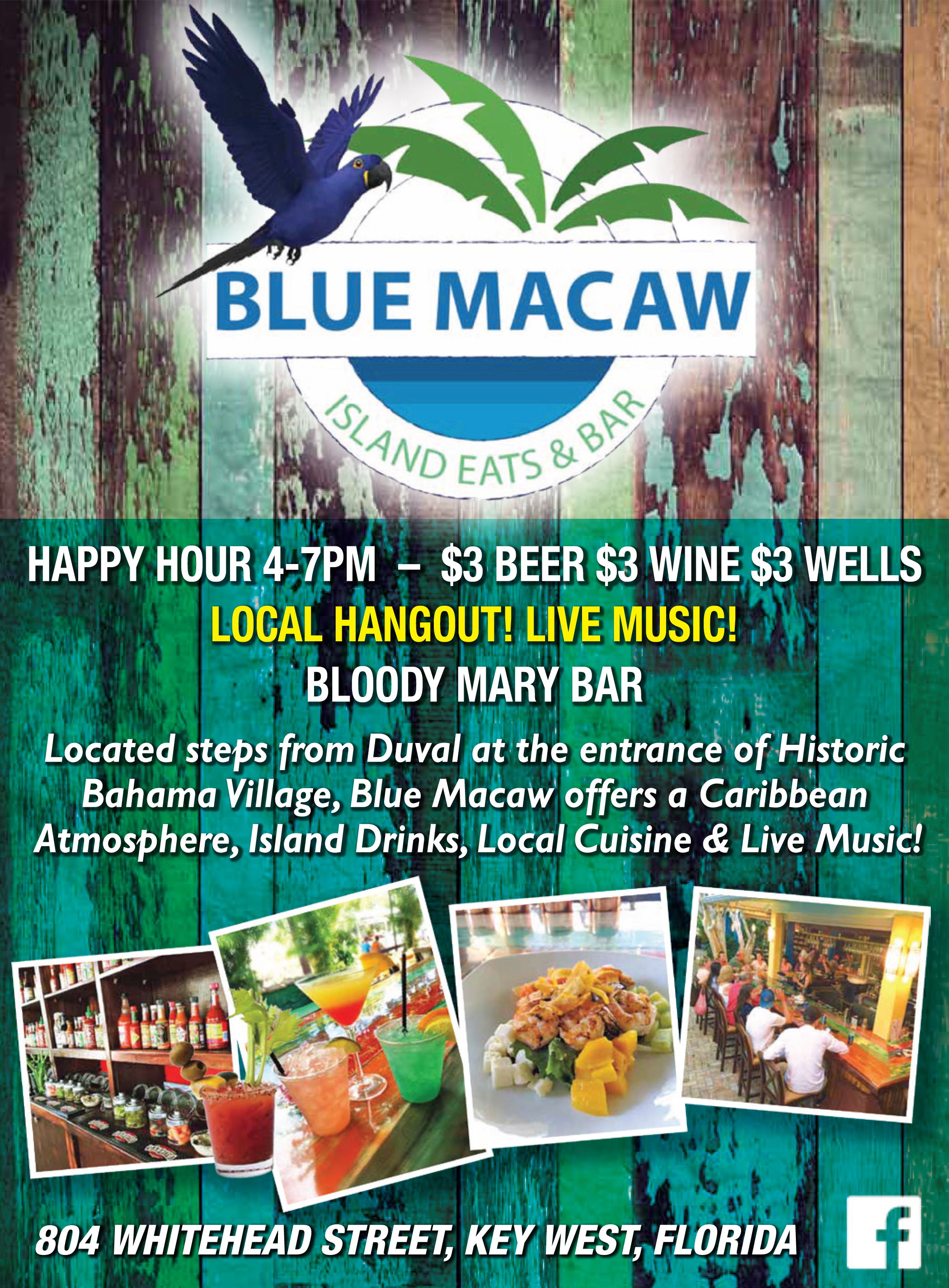 Blue Macaw Island Eats & Bar, Key West
