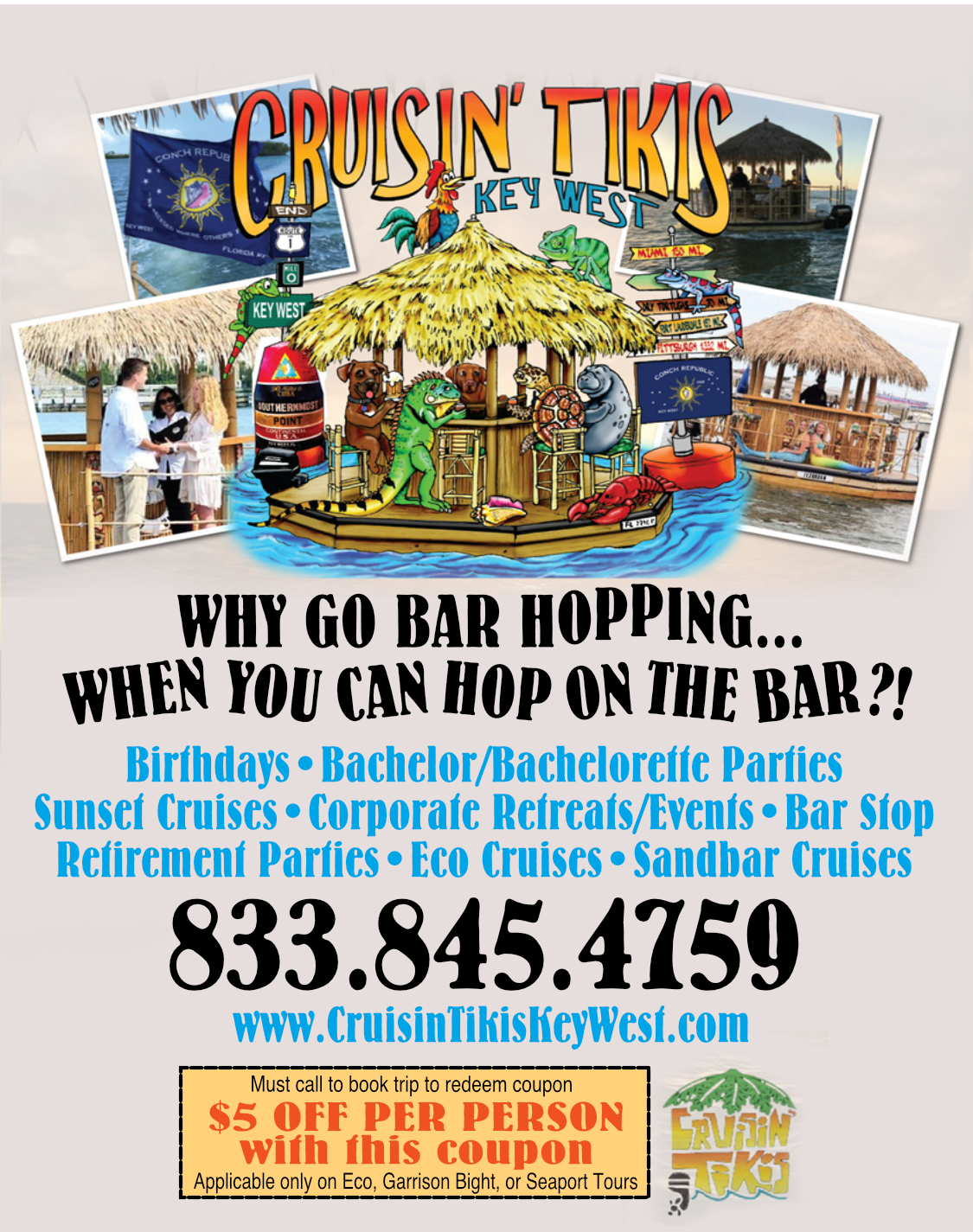 Key West discounts provided by free coupons which you can print out.