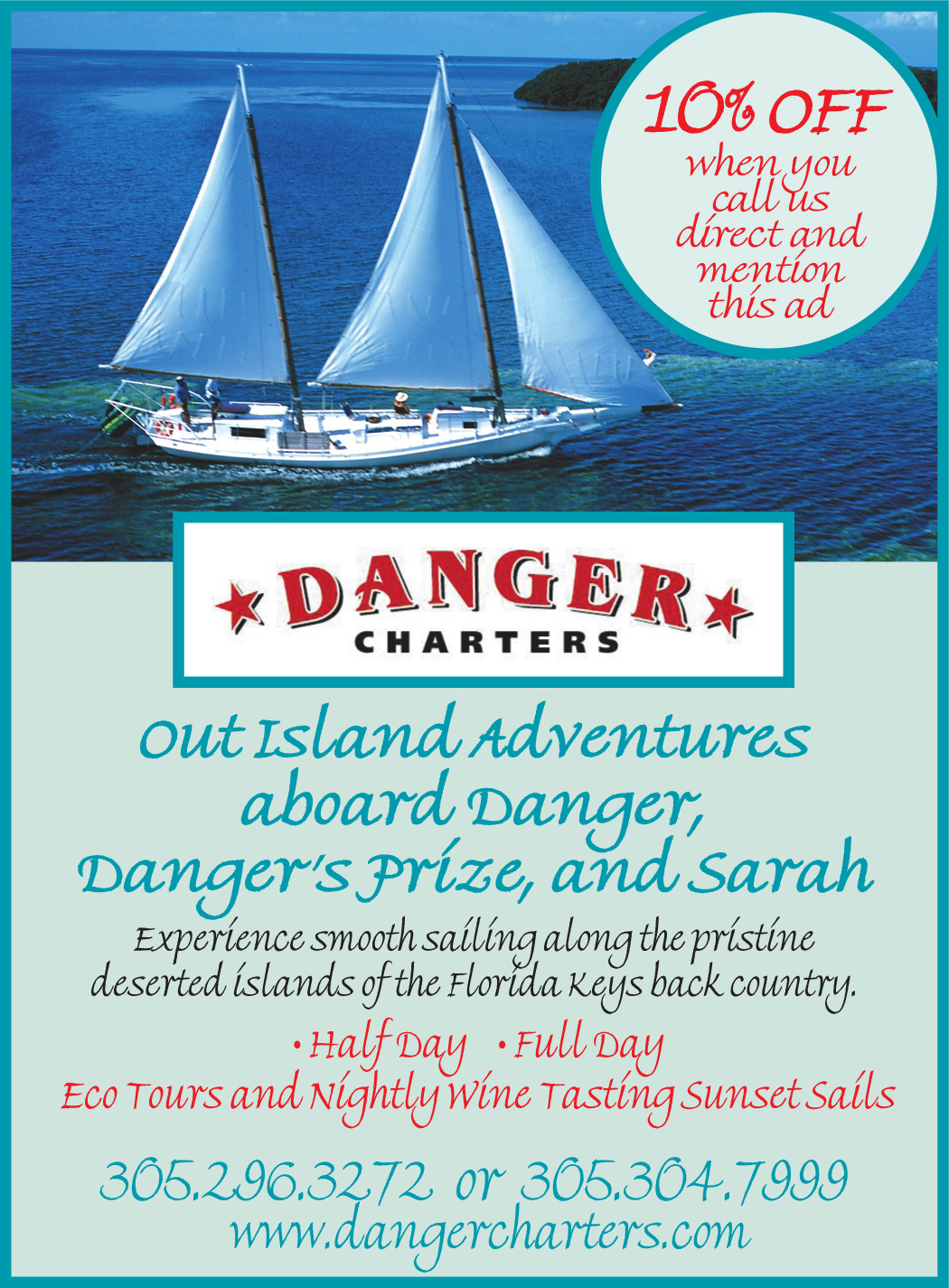 danger charters key west coupon